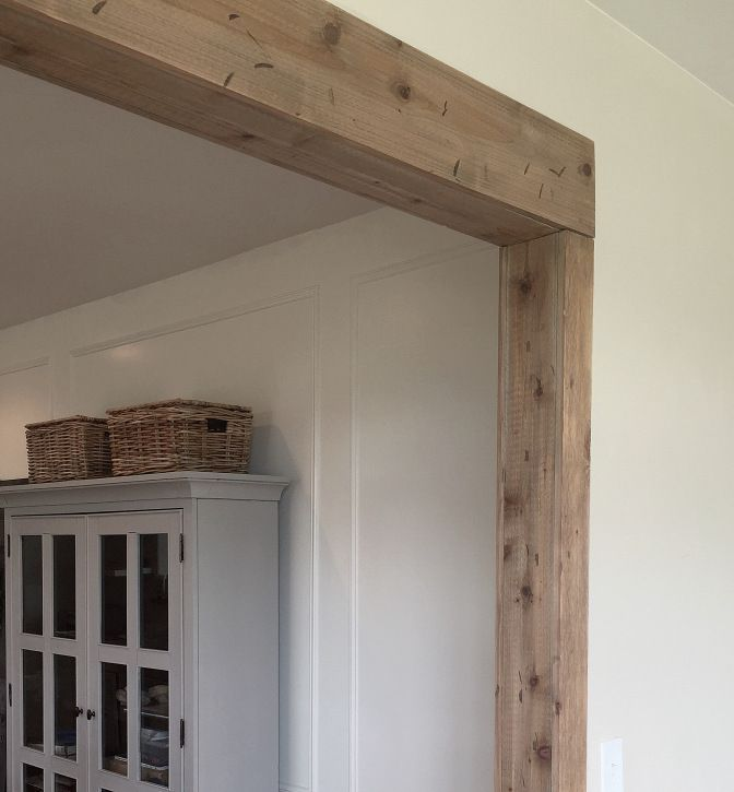 Real Wood Kitchen Cabinets Costco Outdoor Kitchens Kits Faux Barn Beam Doorway | Pantry Pinterest ...