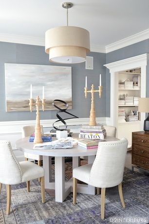 transitional dining room with restoration hardware 1940 s french rh pinterest co uk Periwinkle Blue Dining Chairs Barrel-Shaped Dining Chair