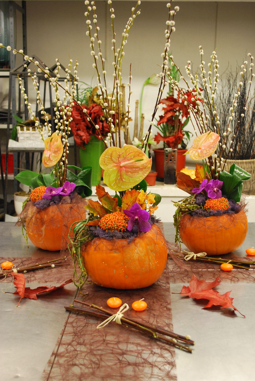 atelier floral citrouille et fleurs de saison une jolie d coration pour l. Black Bedroom Furniture Sets. Home Design Ideas