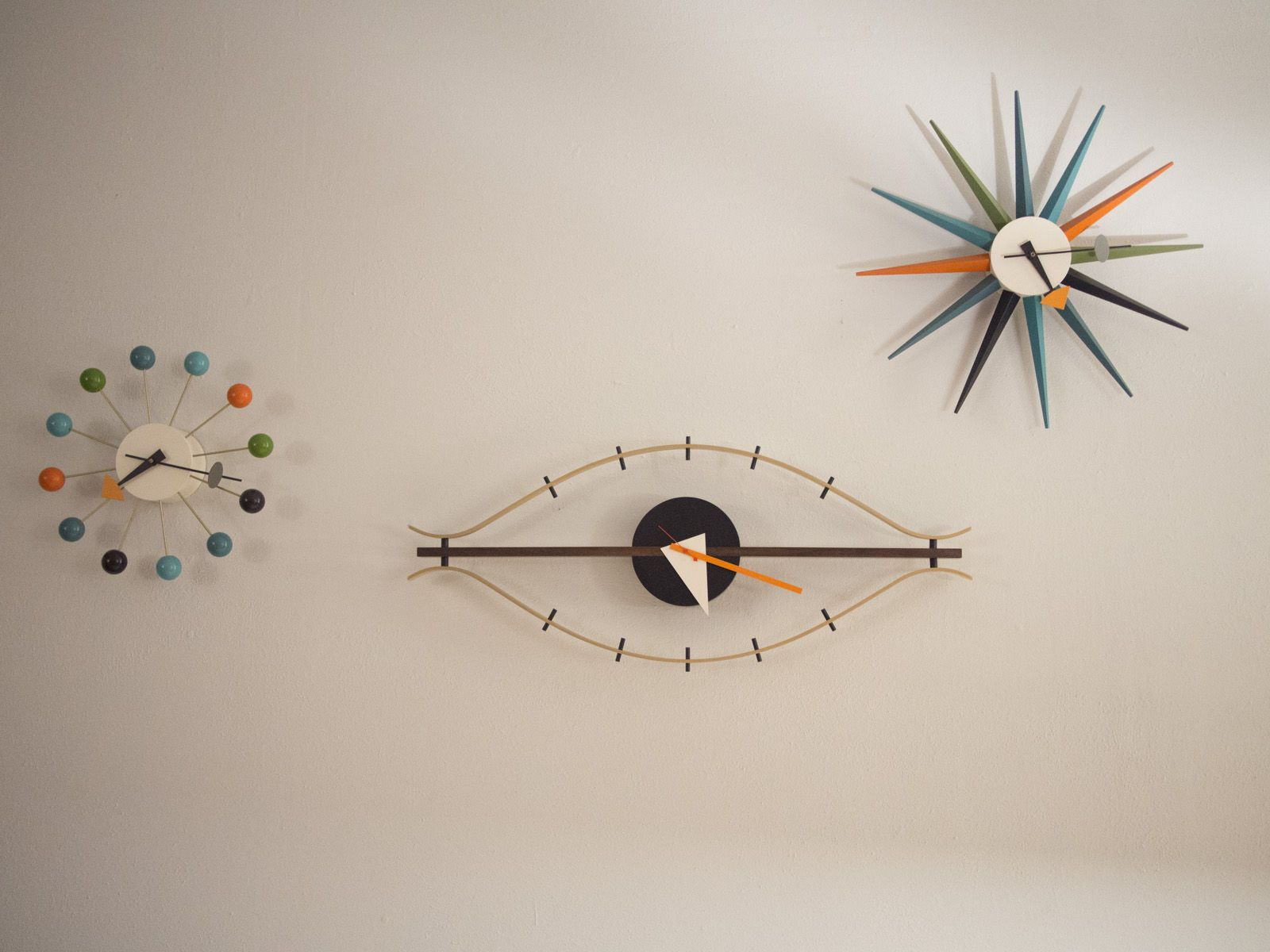 My Trifecta of George Nelson clocks from #Vitra #DWR is complete. Bubble,
