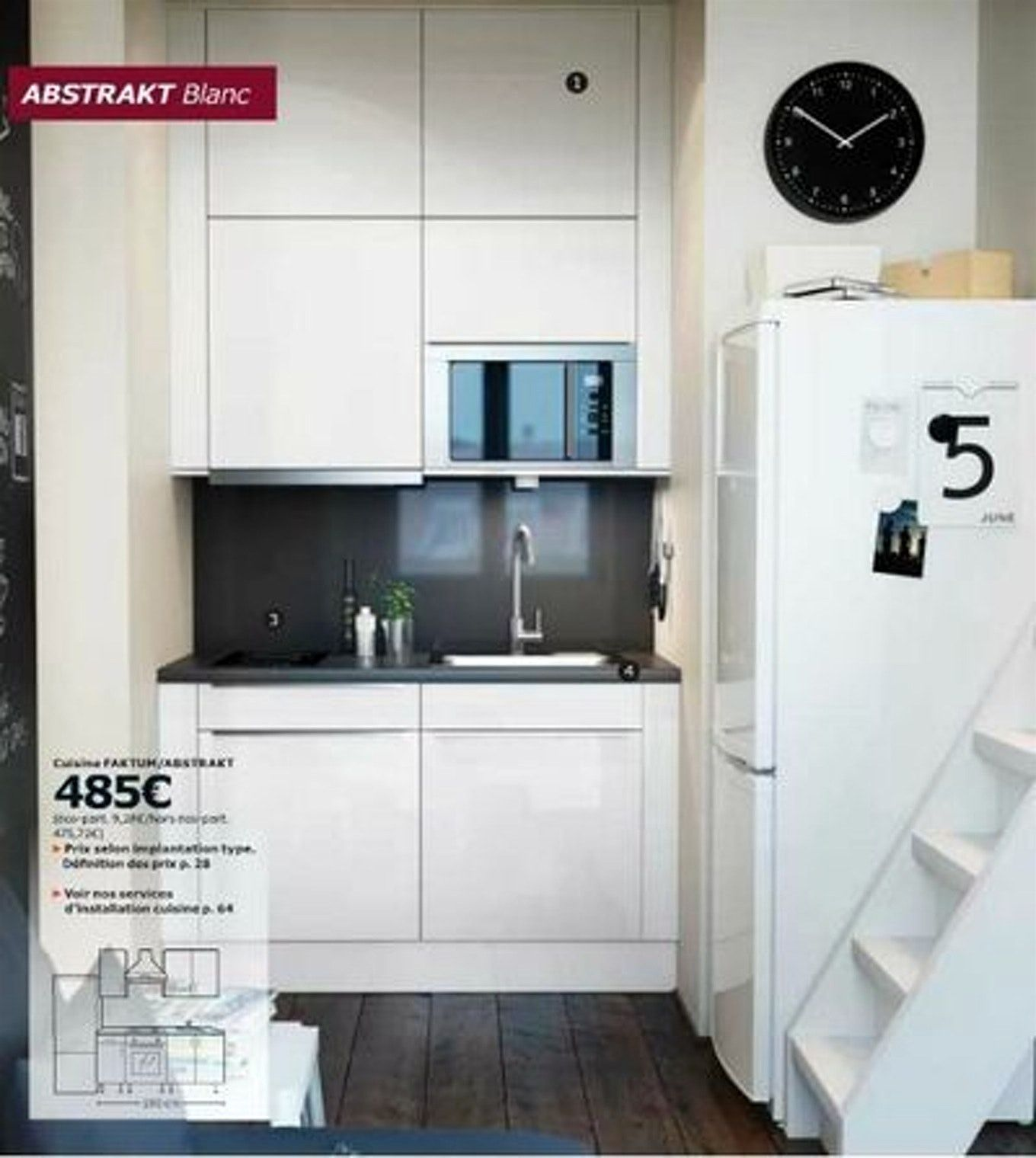 Kitchenette Ikea Pour Studio Avec Erstaunlich Amenagement