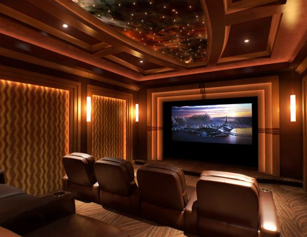 Simple Home And Apartment Interior Design Home Theater Room