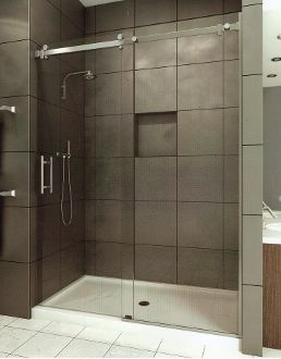 Here is another serenity shower enclosure this one is more canyon heavy slider heavy frameless glass with rectangular roller bar ultra modern roller system and pull arizona shower door planetlyrics Images
