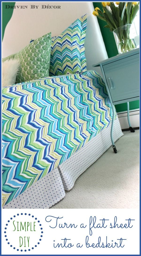 Easy DIY: How to Make a Pleated Bed Skirt From a F