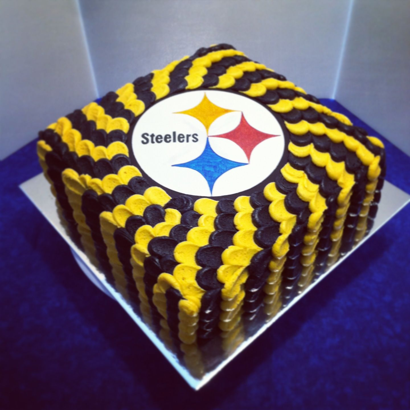 Steelers cake for my little brothers birthday Sweets