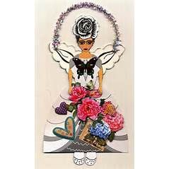 Frida Kahlo Paper Doll Collage, Ornament, Frida's Garden, Fairy, Angel ...