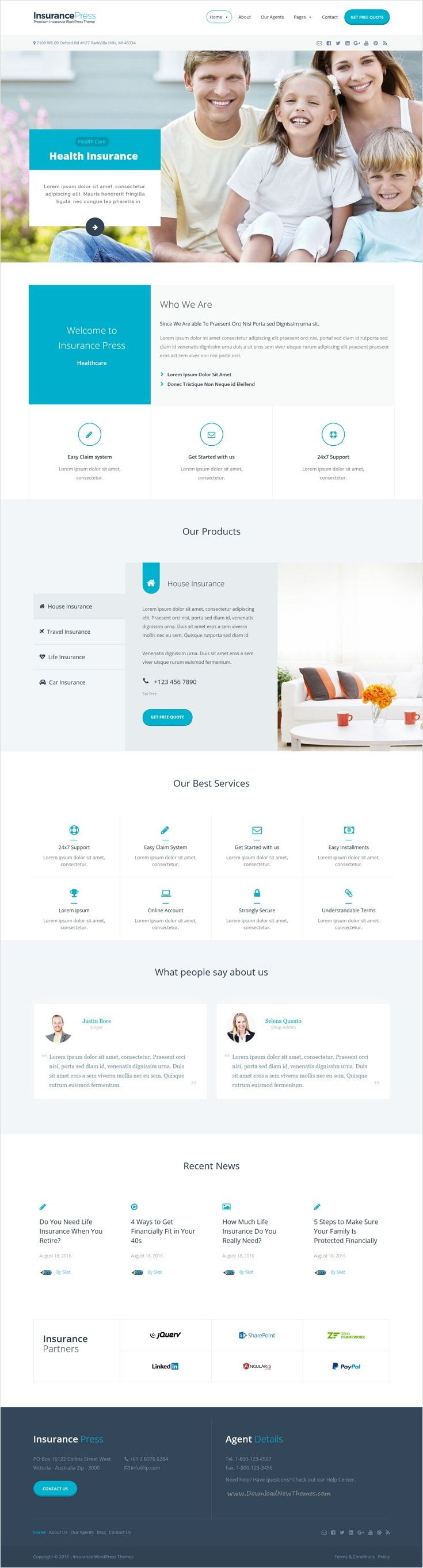 Insurance Agency Wordpress Theme Magazine Theme Wordpress