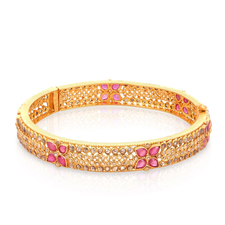 ERA Uncut Diamond Gold Bangle ANDAAAAAAPMU | Jewellery | Pinterest ...