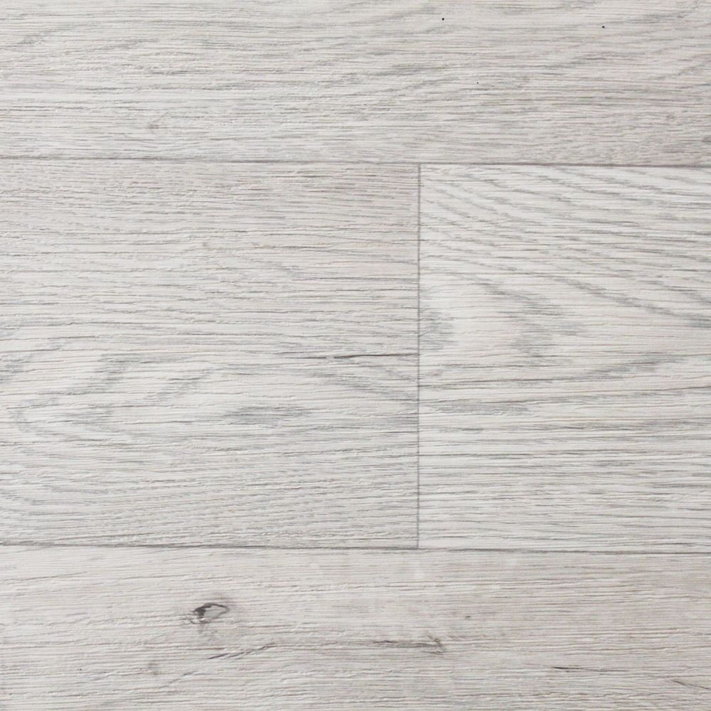 White Beige Wood Non Slip Vinyl Flooring Lino Kitchen