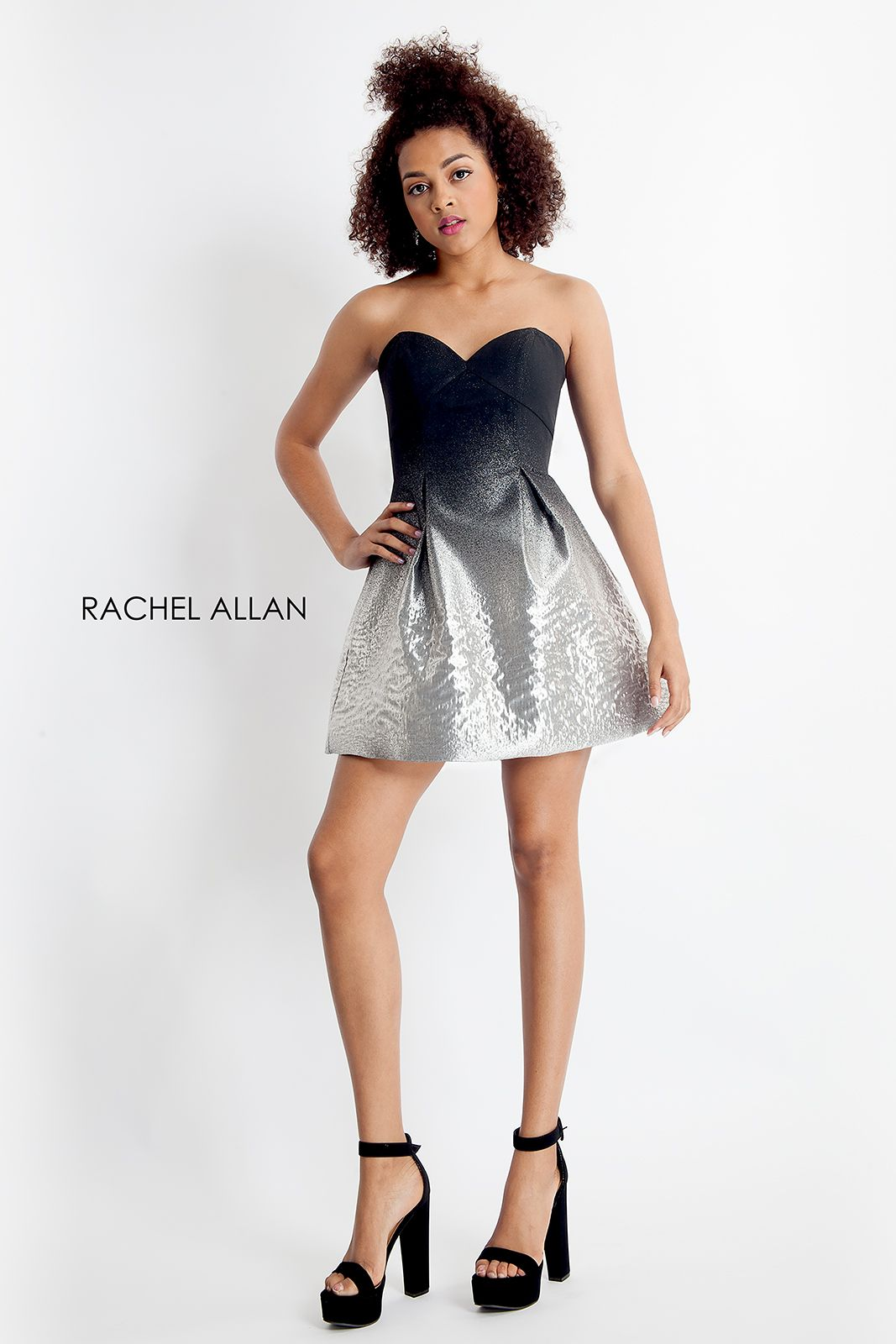 Homecoming dress in blacksilver homecomingdress ombre