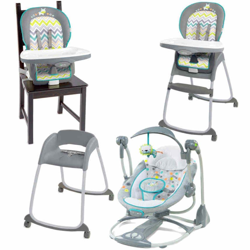 Keep Baby Comfy With 3 Recline Positions And A Harness For Safety.  Full Size High Chair, Booster Seat And Toddler Chair. Ingenuity Trio High  Chair, ...