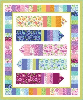 Jelly Roll Zig Zag Quilt Free Pattern By Benartex Quilt