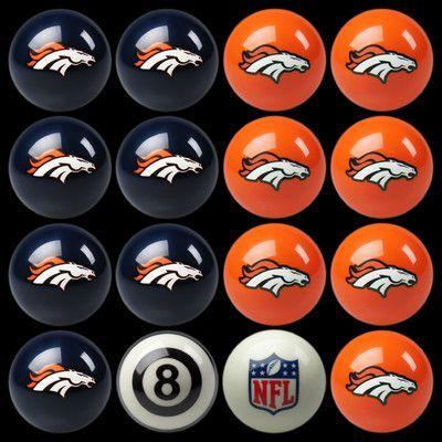 Imperial 16 Piece NFL Billiard Ball Set NFL Team: Denver Broncos