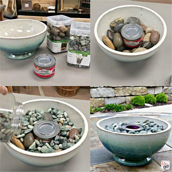 How To Make 2 Table Top Fire Pit Bowls Diy Tischplatte Feuerschale Einfaches Wohndekor