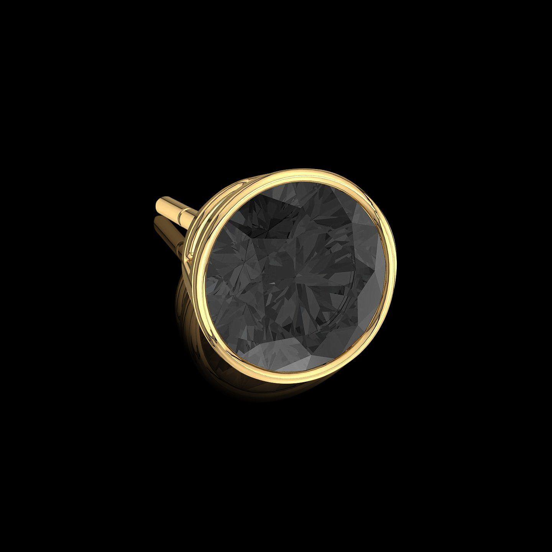 boucle d'oreille hommes diamant noir