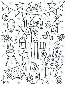 4th of July coloring page Pinterest Holidays July crafts and Craft