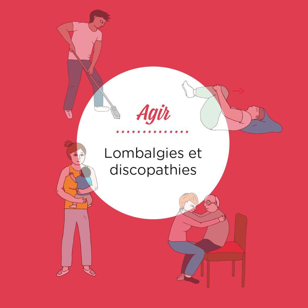 Cahier Pratique Illustré Sur Le Thème Des Lombalgies Illustrations Illustration Graphisme