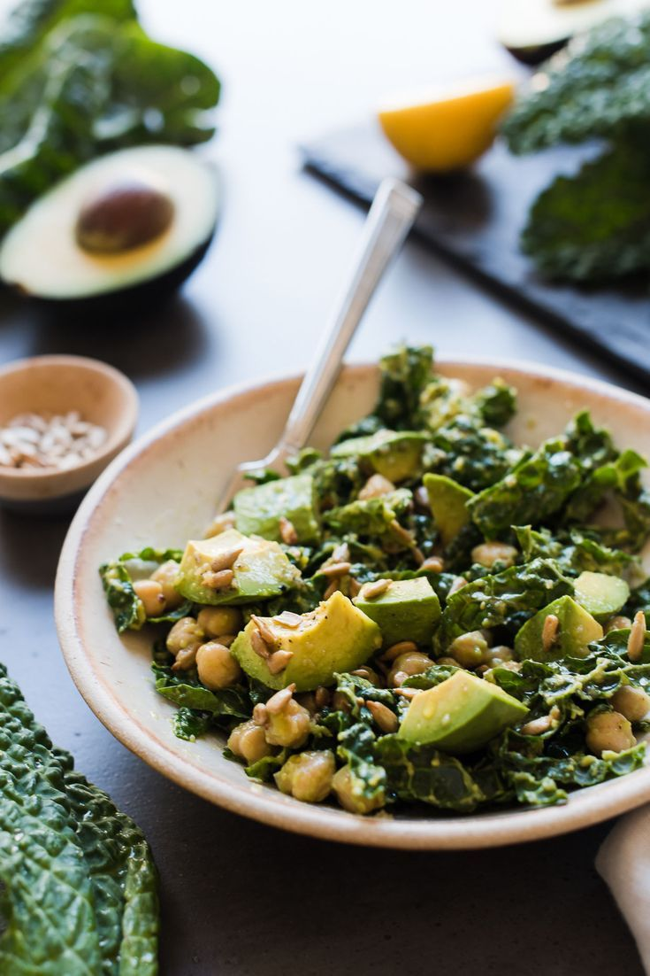 Kale Salad with Avocado: Lemony Kale, Avocado, and