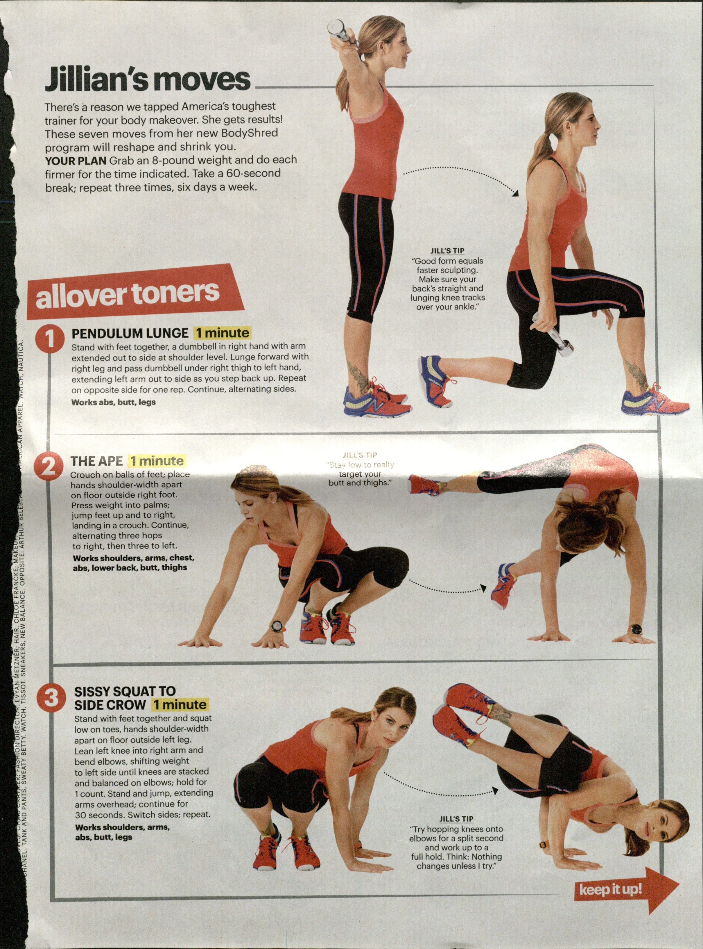 Jillian S Moves Part 1 Equipment Dumbbells Body Trainer Body Makeover Circuit Training