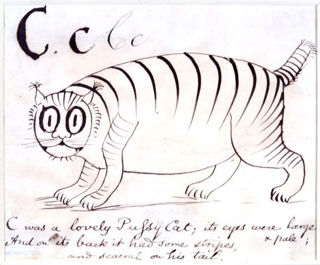 The letter C from A Children's Nonsense Alphabet by Edward Lear.