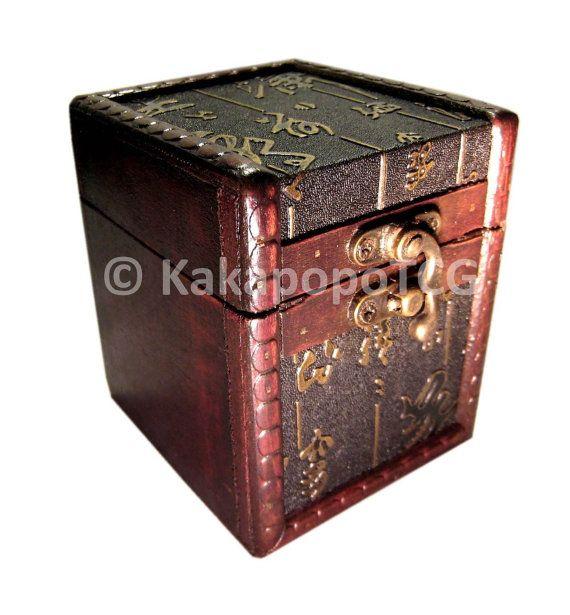 S01 Ancient Scroll Wood Tcg Deck Box Dice Box Mtg Yugioh Pokemon