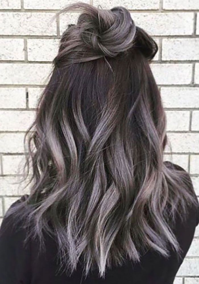 Image Result For Brown Hair Silver Highlights Hair Colors In 2018