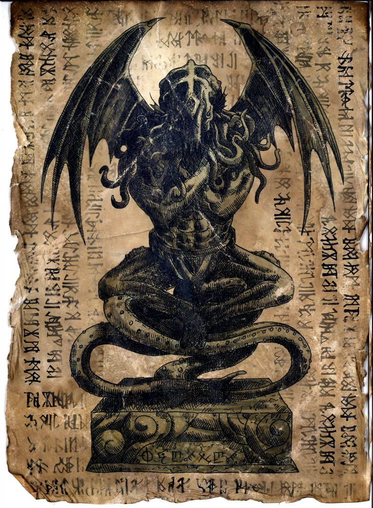 Cthulhu Idol Necronomicon Page By Wendigomoon Cthulhu Art Lovecraft Cthulhu Lovecraftian Horror