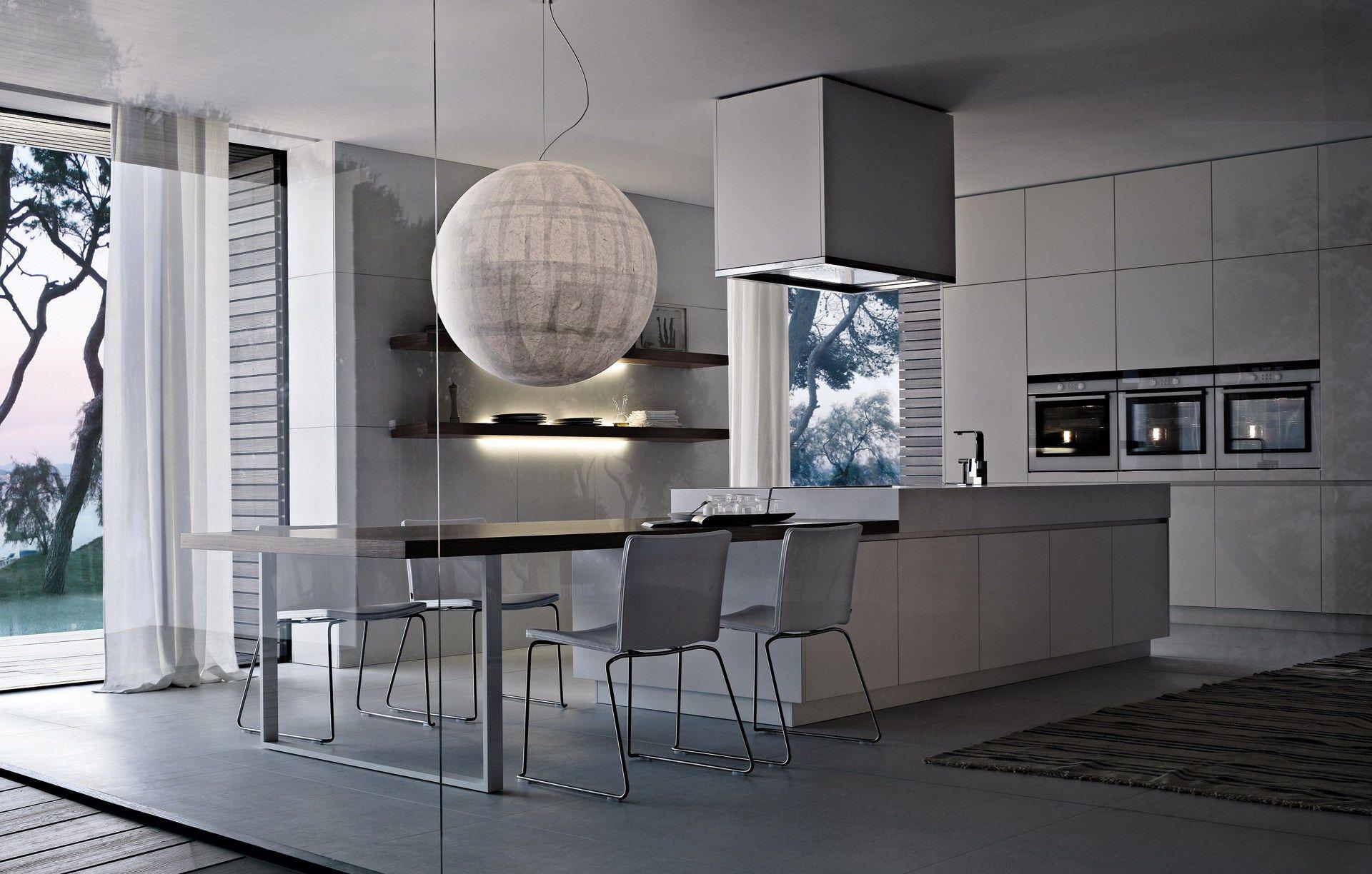 Varenna Küchen ~ Lacquered wooden kitchen alea by varenna by poliform design paolo