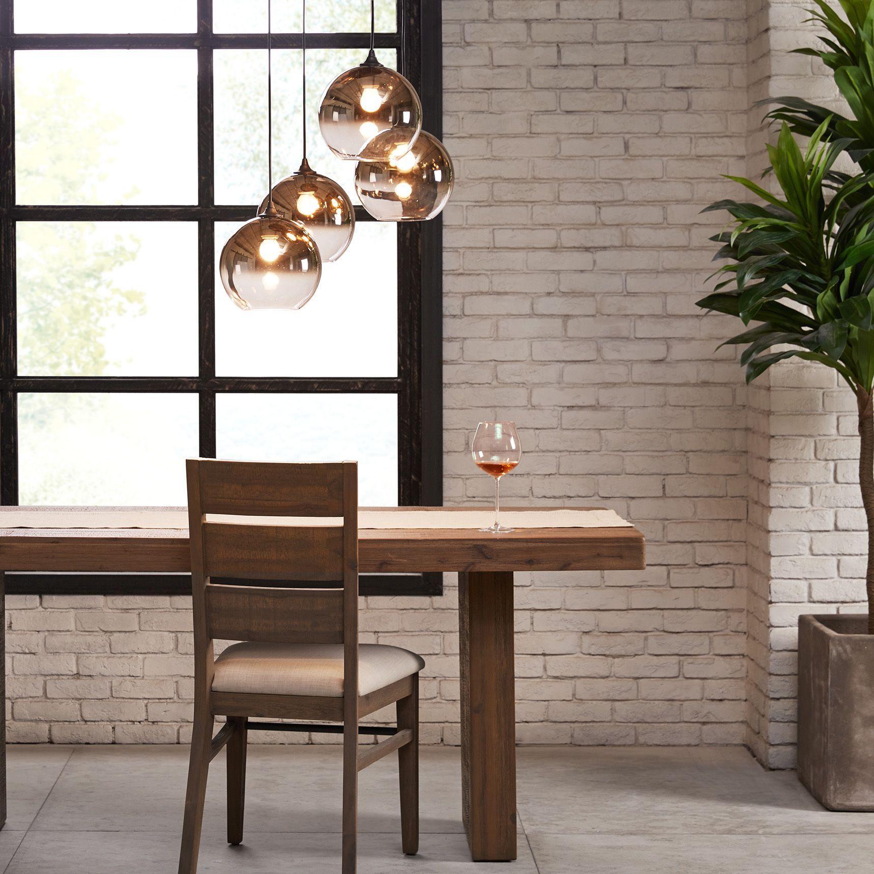 Long kitchen tables  Inkivy Mandal BronzeGrey Single Pendants LxWxHBronze