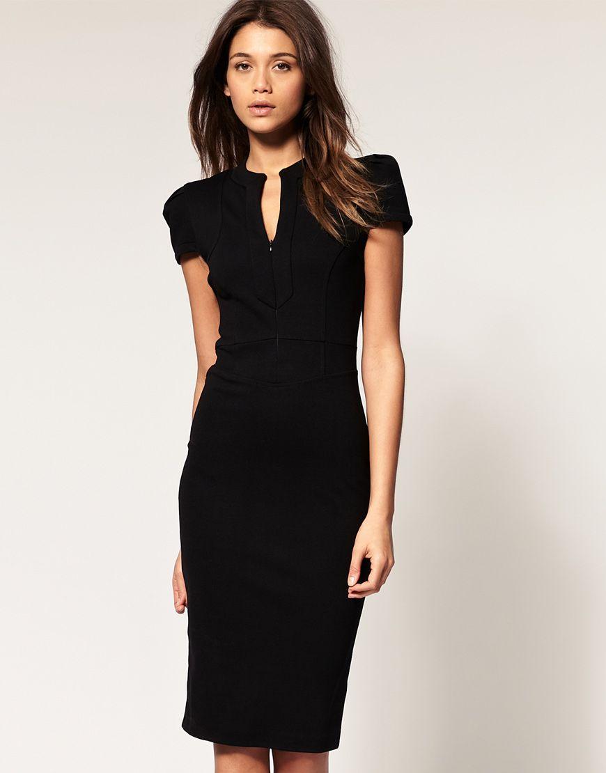 Sexy Pencil Dress with Zip Detail | Alte kleidung, Anziehen und Kleider