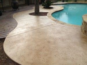 Staining Concrete Concrete Stain Patio Backyard Pool Patio Stain