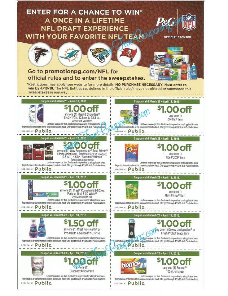 Publix 'Tackle Everything' Coupon Sheet & VIP Experience