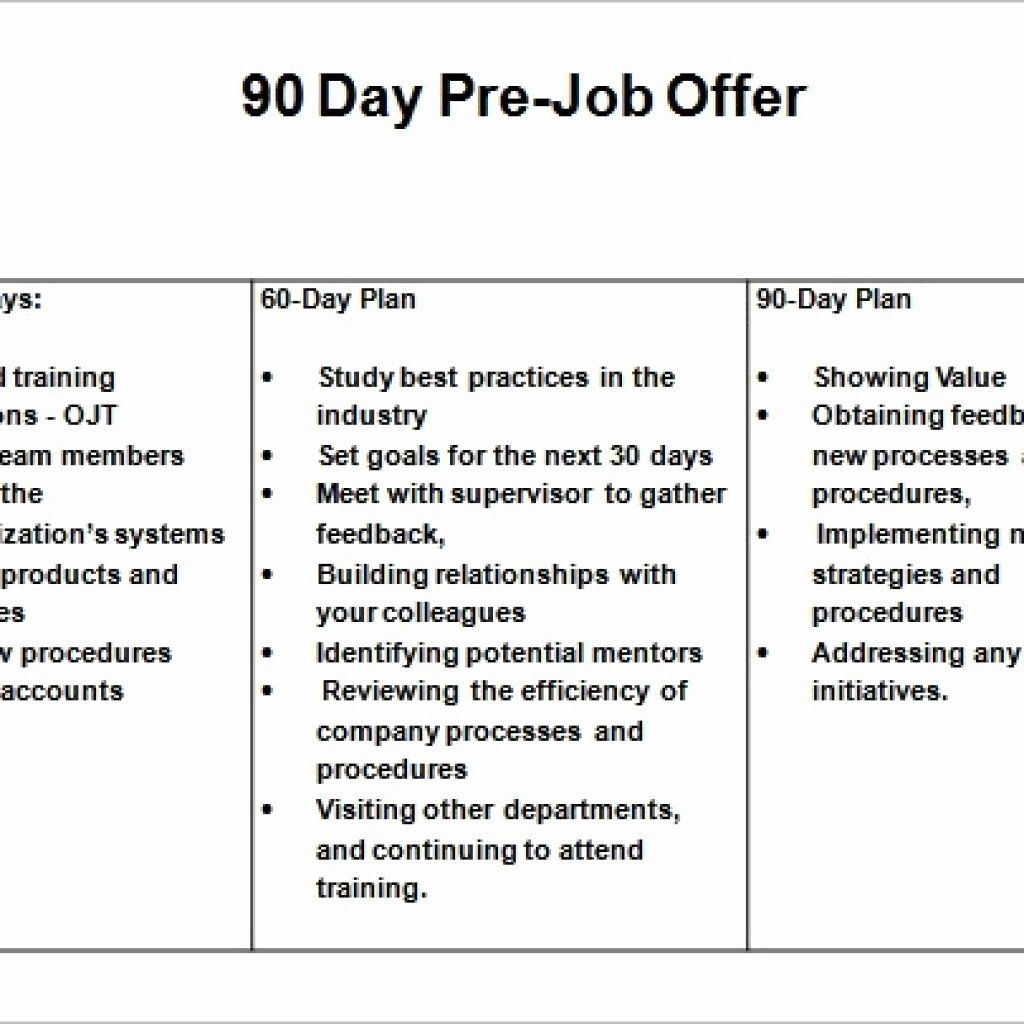 Free 30 60 90 Day Plan Template Word New 16 30 60 90 Day Sales