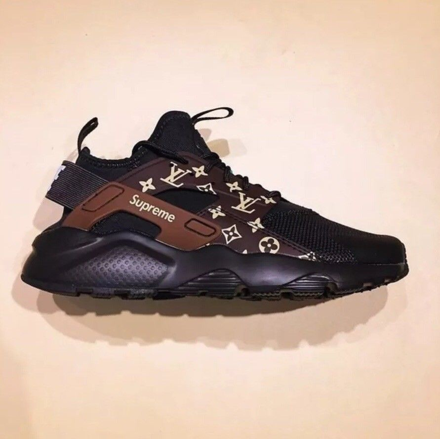 official photos d3ac0 f2e26 Nike Air Huarache Custom Brown And Black Shoes  fashion  clothing  shoes   accessories  mensshoes  athleticshoes  ad (ebay link)