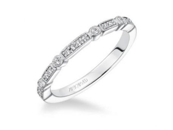 Wedding Band $930.00 STYLE: 001-110-00485 14K WG Milgrain Band 1/10 ctw SI2 G/H http://www.theringbygoldgals.com/