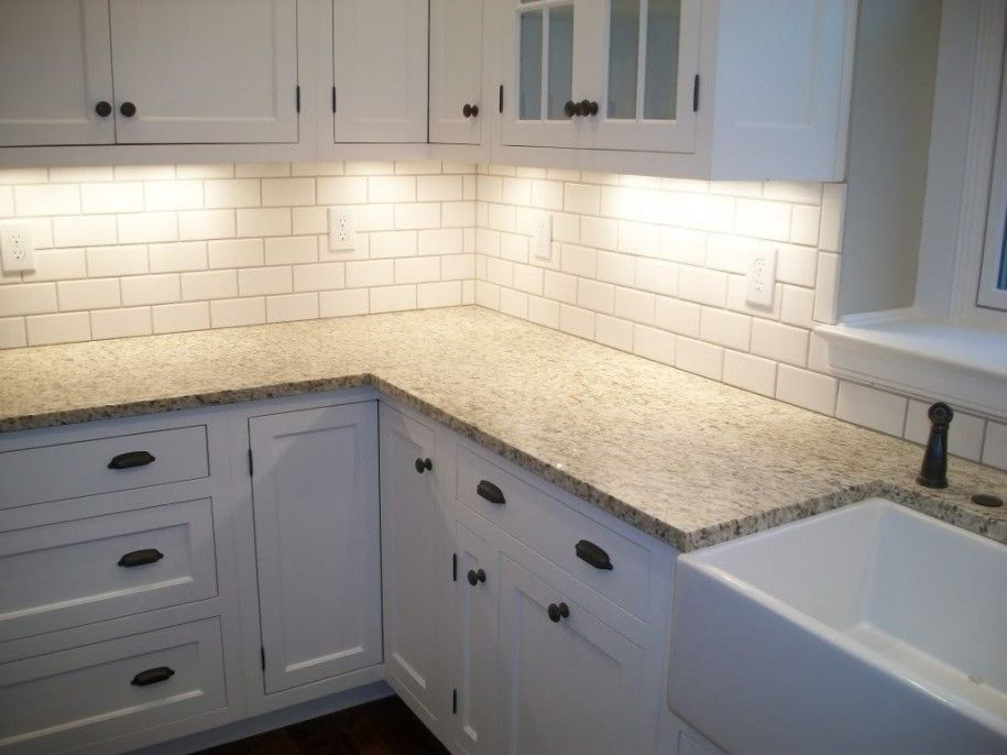 Charmant Granite Counter, White Cabinets, Subway Tile, Under Cabinet Lighting By  Debra Vick Ashley. White Cabinet Kitchen ...