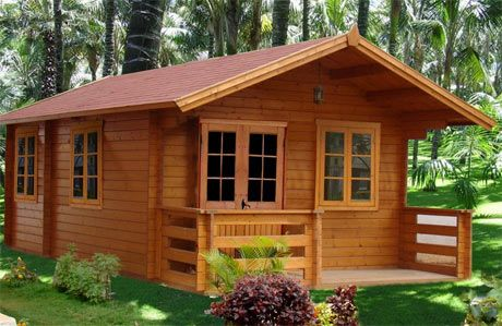 Small Wooden House | kwooden homes chennai are the pioneers in building of  wooded homes in