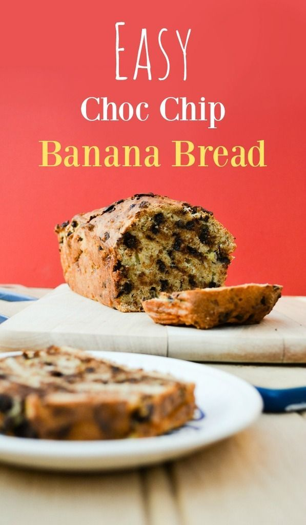 Easy choc chip banana bread - vegan..An easy recipe for moist banana bread studded with dark chocolate. Fabulous slightly warm and even more glorious toasted and spread with dairy free spread. http://www.tinnedtomatoes.com