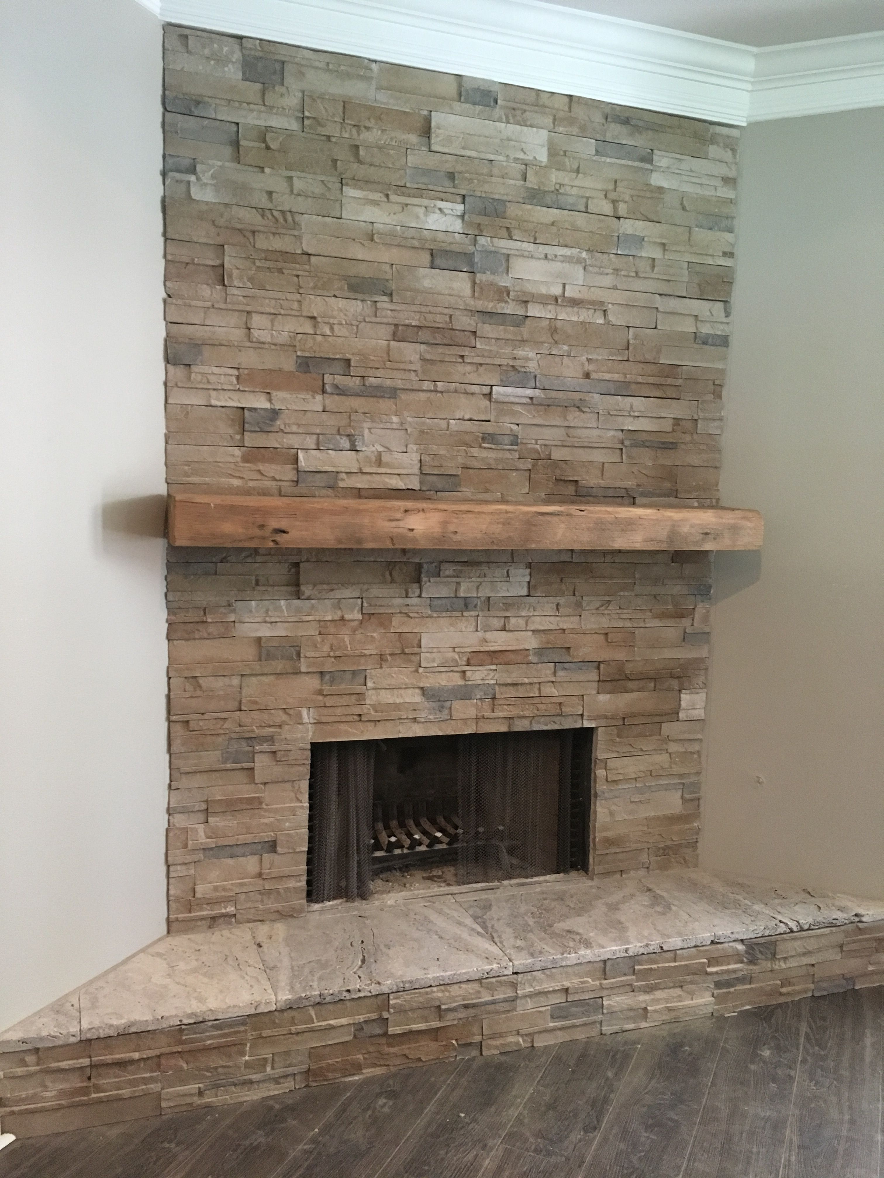 My faux stacked stone fireplace This is Coronado Proledge in