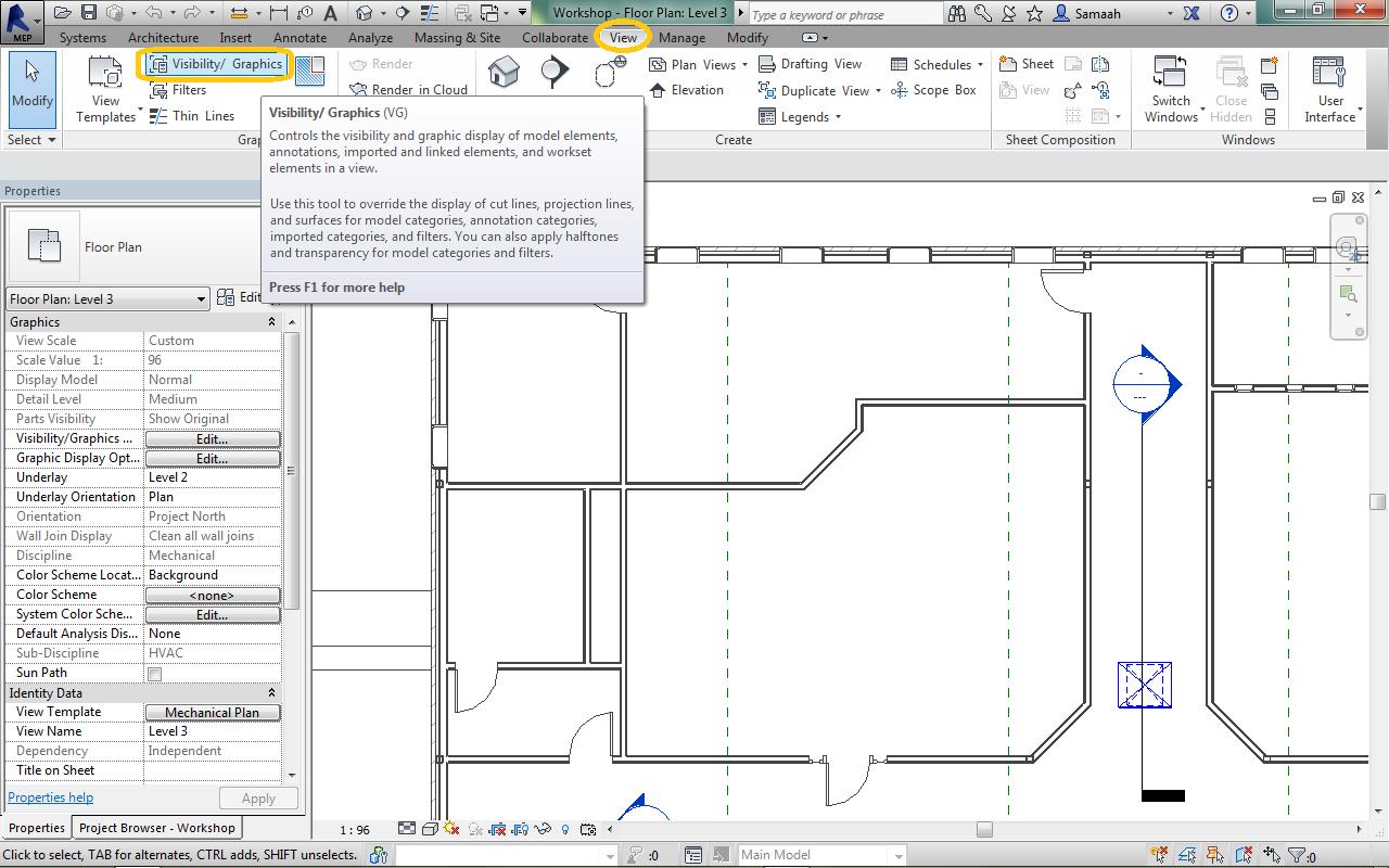 يلا نتعلم اظهار الصاج في ريفيت ميب Duct Work How To Plan Interface