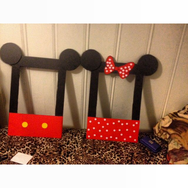 Mickey Amp Minnie Photobooth Frames Minnie Mouse Birthday
