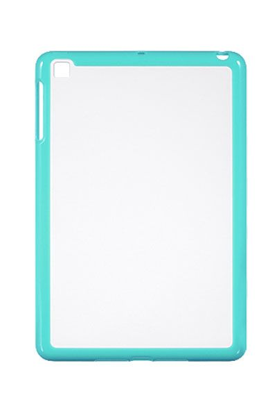 HHI Candy Shield Hard and Soft Constructed Case For iPad mini - Clear/Teal