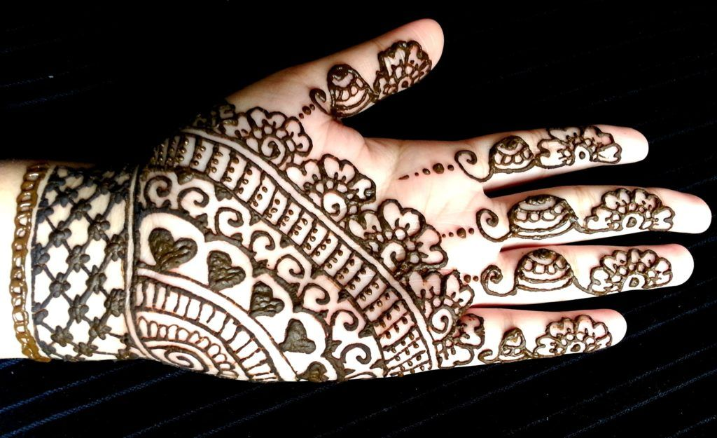 Full Hand Modern Easy Mehndi Designs For Kids