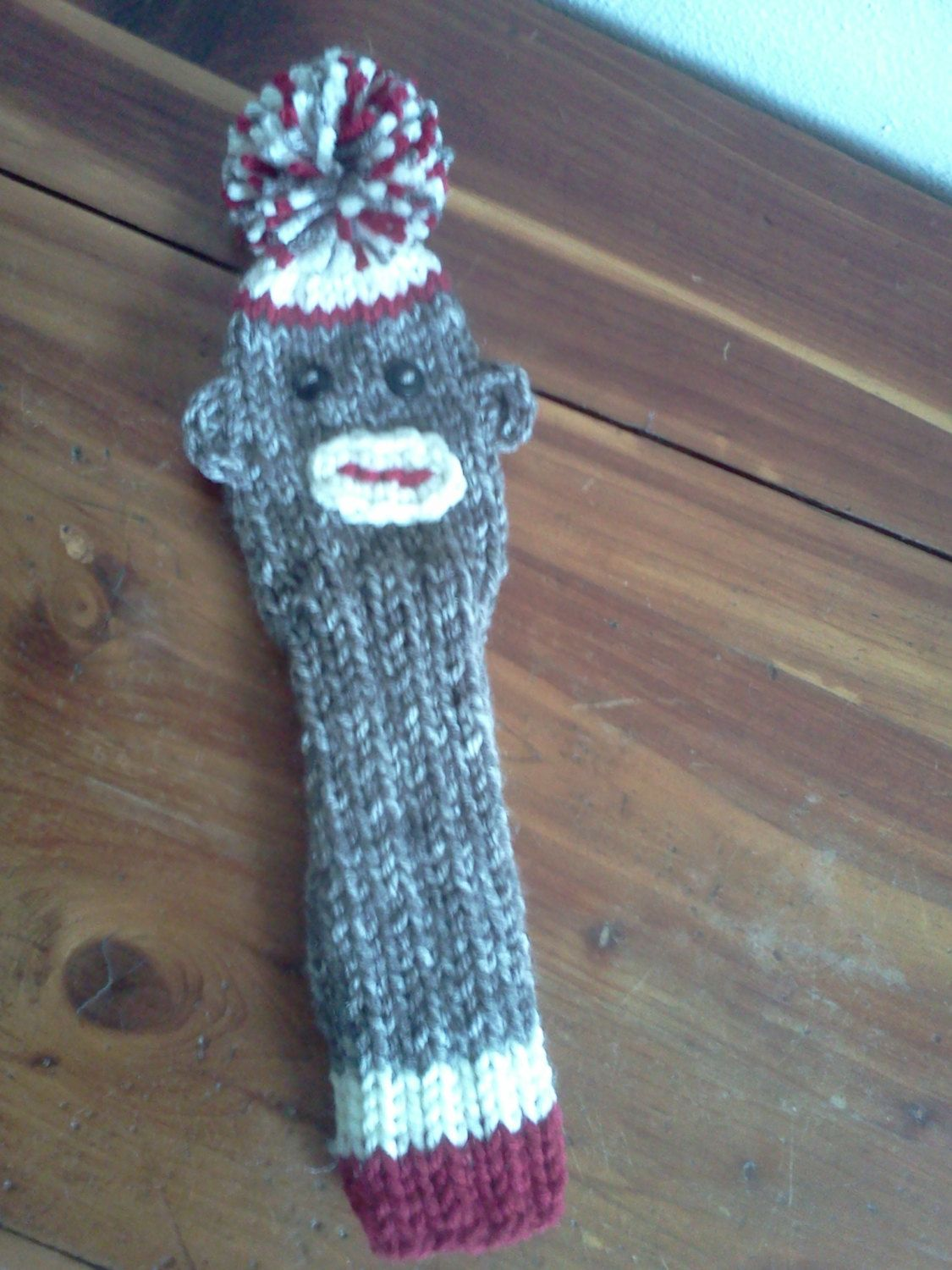 Hand knit SOCK MONKEY Golf Club Head Cover by warmestwishes2u, $7.50 ...