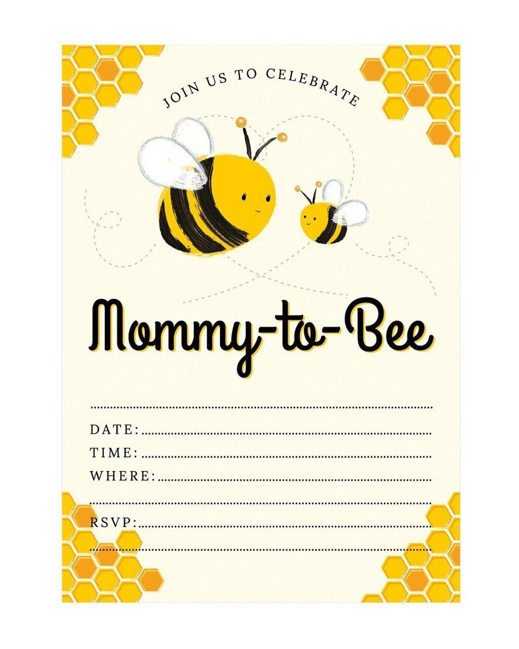 Work Baby Shower Invitation Fresh Mommy to Bee Baby Shower ...