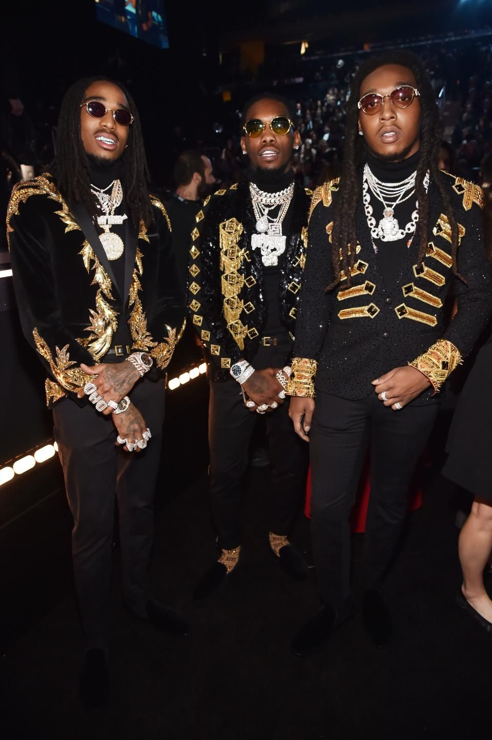 822f62478dcb Migos wearing Julien Macdonald at the 2018 Grammy Awards in NYC ...