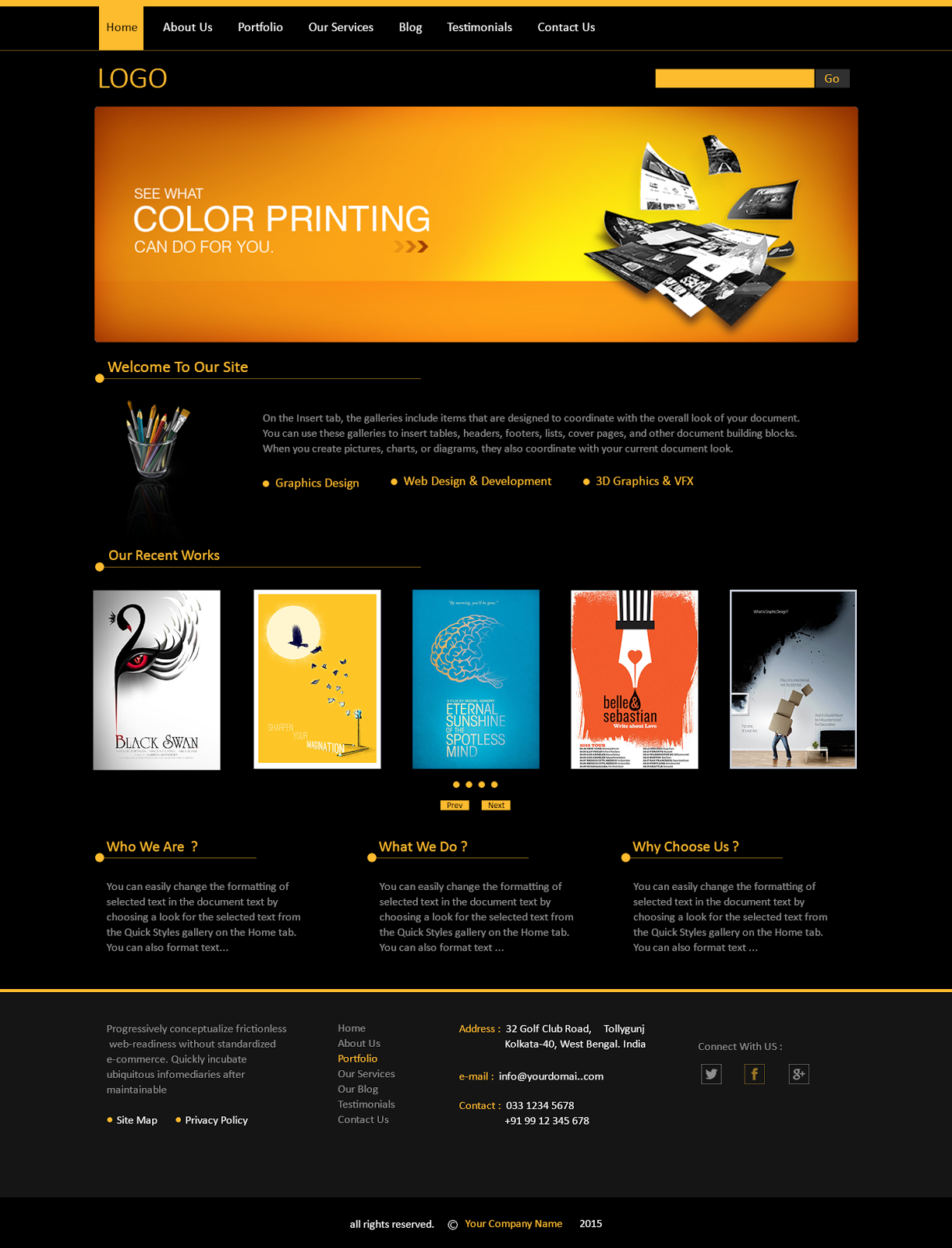 Good My Work Graphic Design Company Portfolio Web Template In Company Portfolio Template