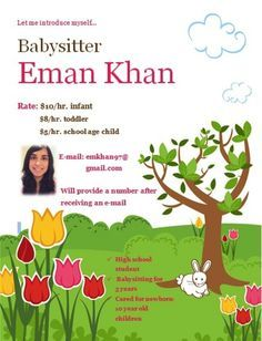 babysitting flyers for teens bing images