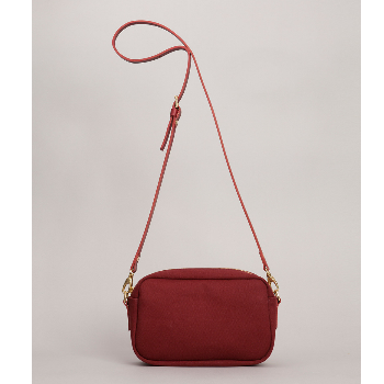 b2524ede8e6a Claret red Canvas Mini Felix Shoulder Bag  Red small zip top ...