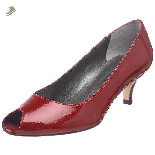 VANELi Women's Dizzy Peep-Toe Pump,Red,6.5 M US - Vaneli pumps